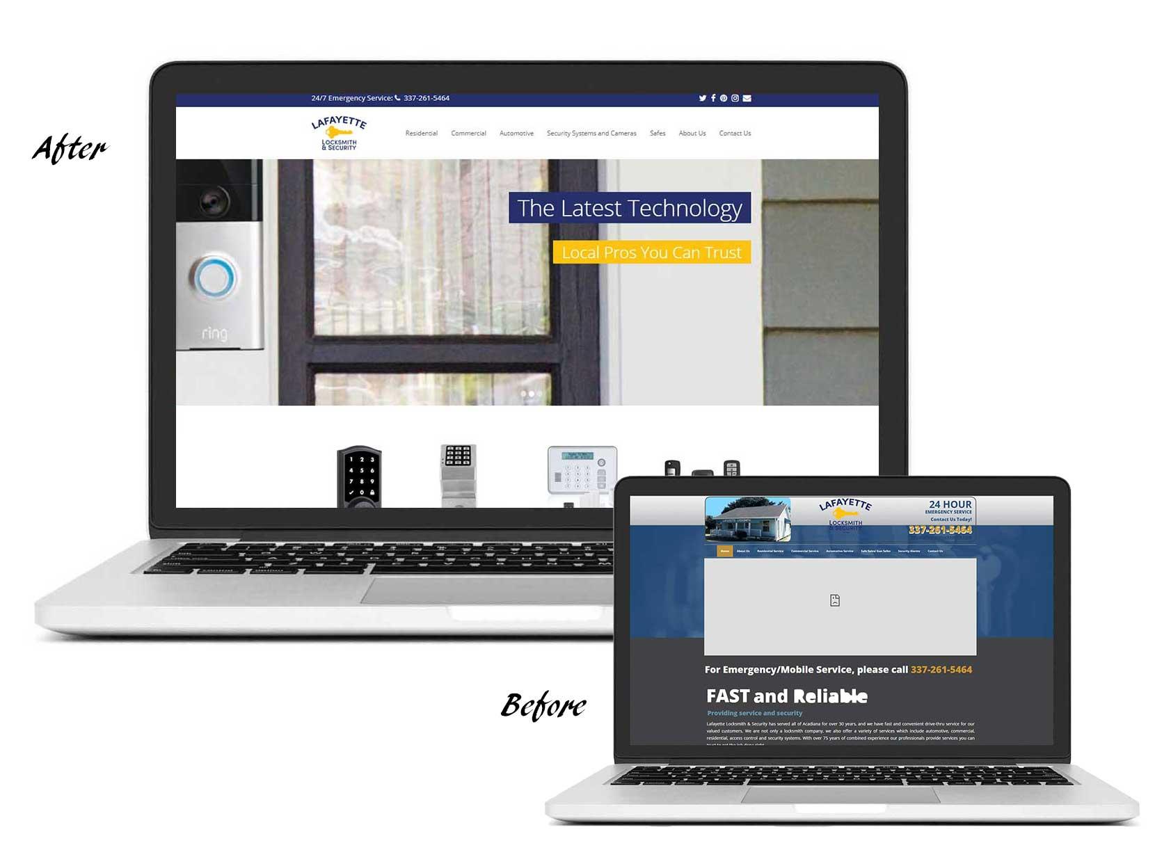 Lafayette Locksmith Website Design by Buzz Worthy Marketing Lafayette LA